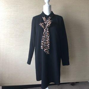 KATE SPADE Black & Leopard Shirtdress NWT
